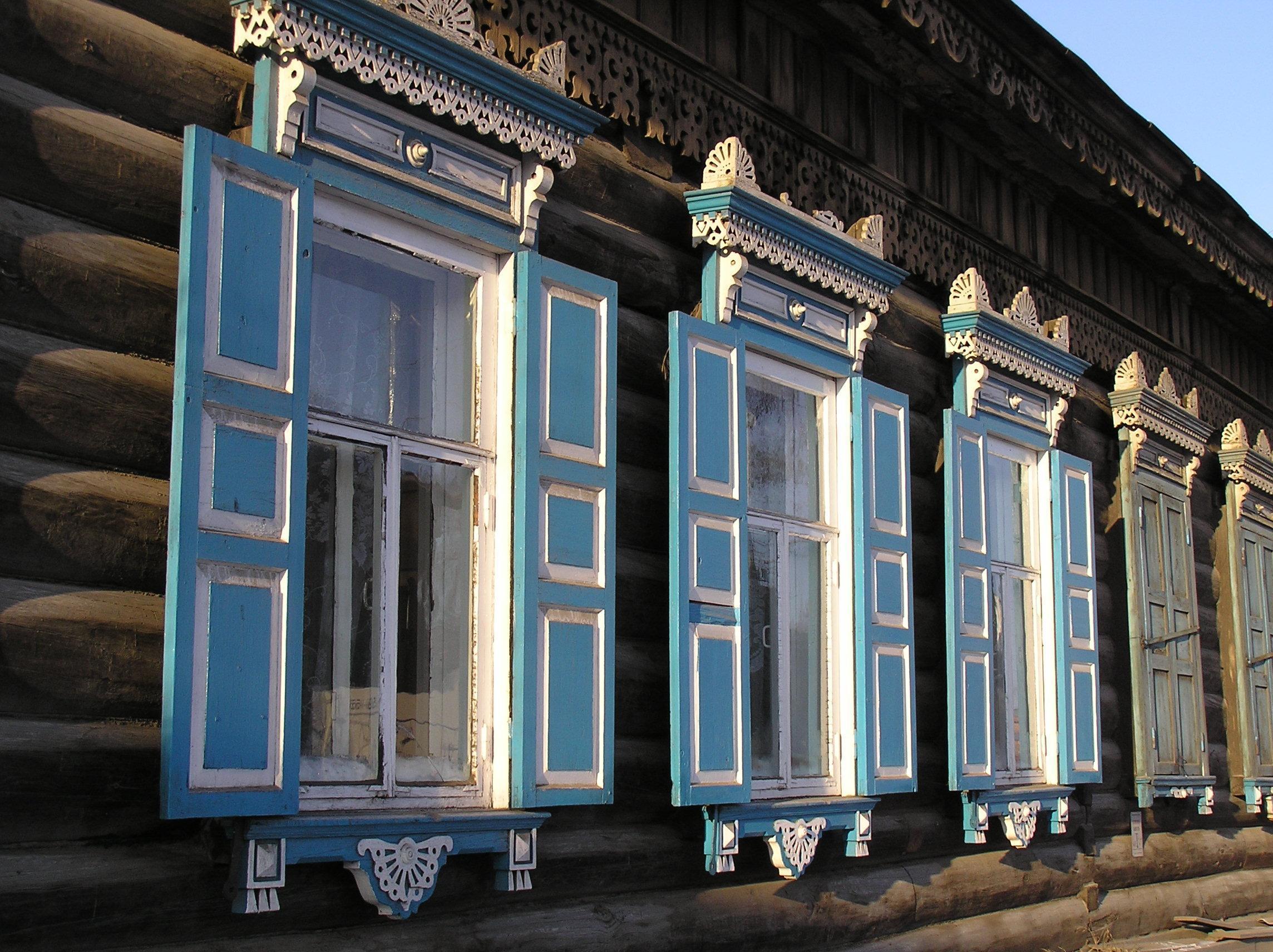 イルクーツク市内 飾り窓