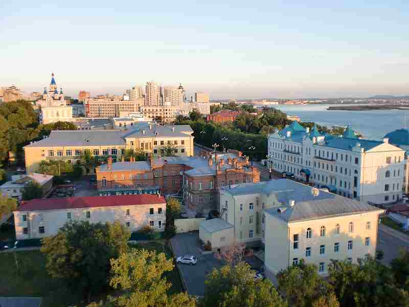 ハバロフスクの街並み