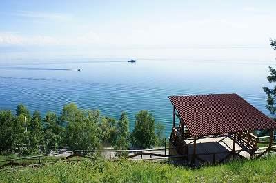 展望台から見るバイカル湖