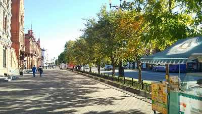 ハバロフスクの町並み