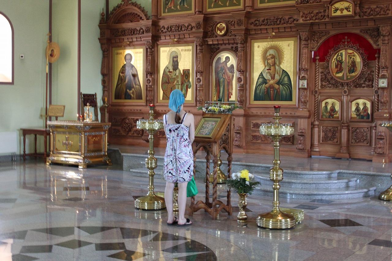 ハバロフスクの教会内部