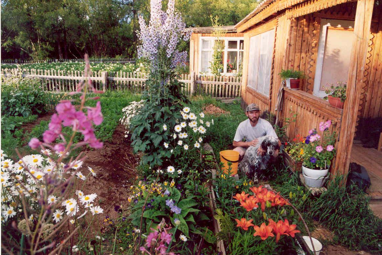 ロシア式別荘ダーチャ 一例イメージ